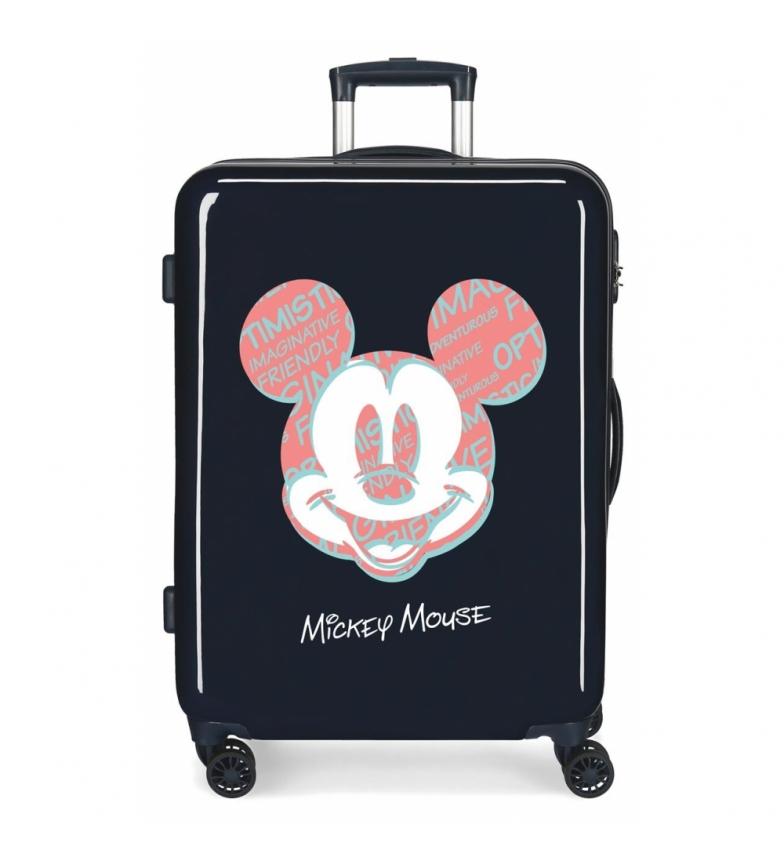 Comprar Disney Medium Suitcase Mickey Always Be Kind rigid navy -68x48x26cm