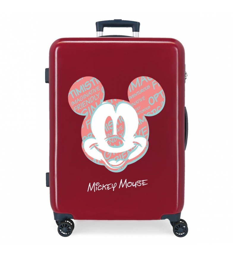 Comprar Disney Medium Suitcase Mickey Always Be Kind rigid maroon -68x48x26cm