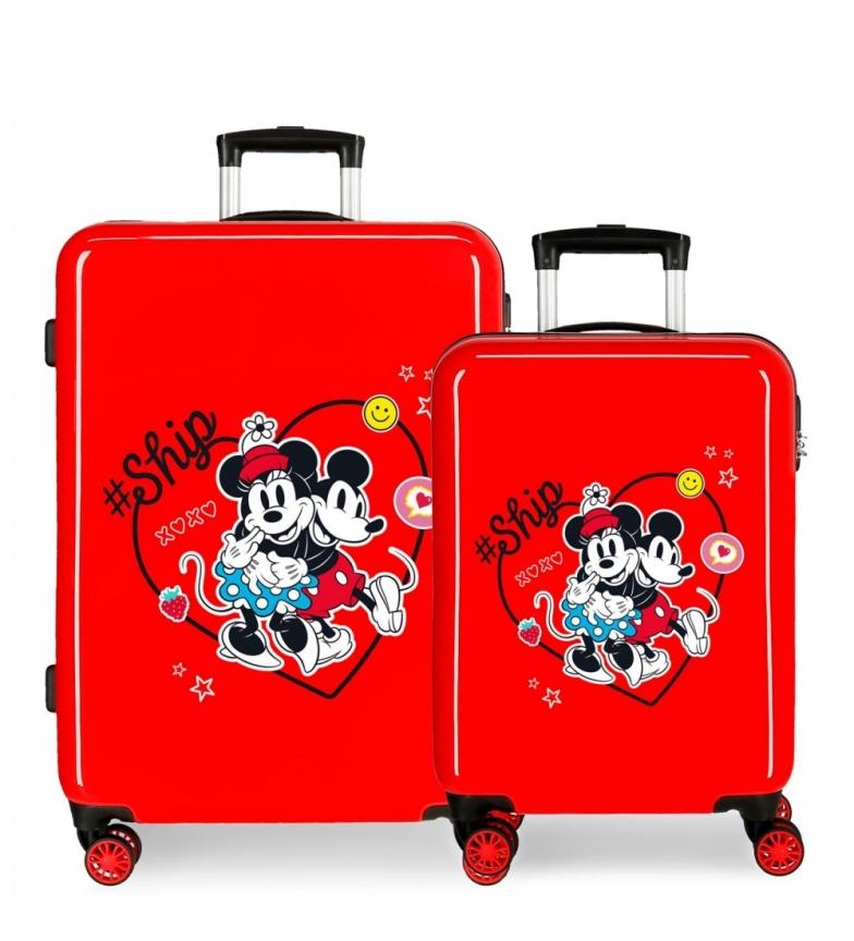 Comprar Disney Mickey & Minnie Ship Always Be Kind Hard Suitcase Set red -38x55x20cm and 48x68x26cm