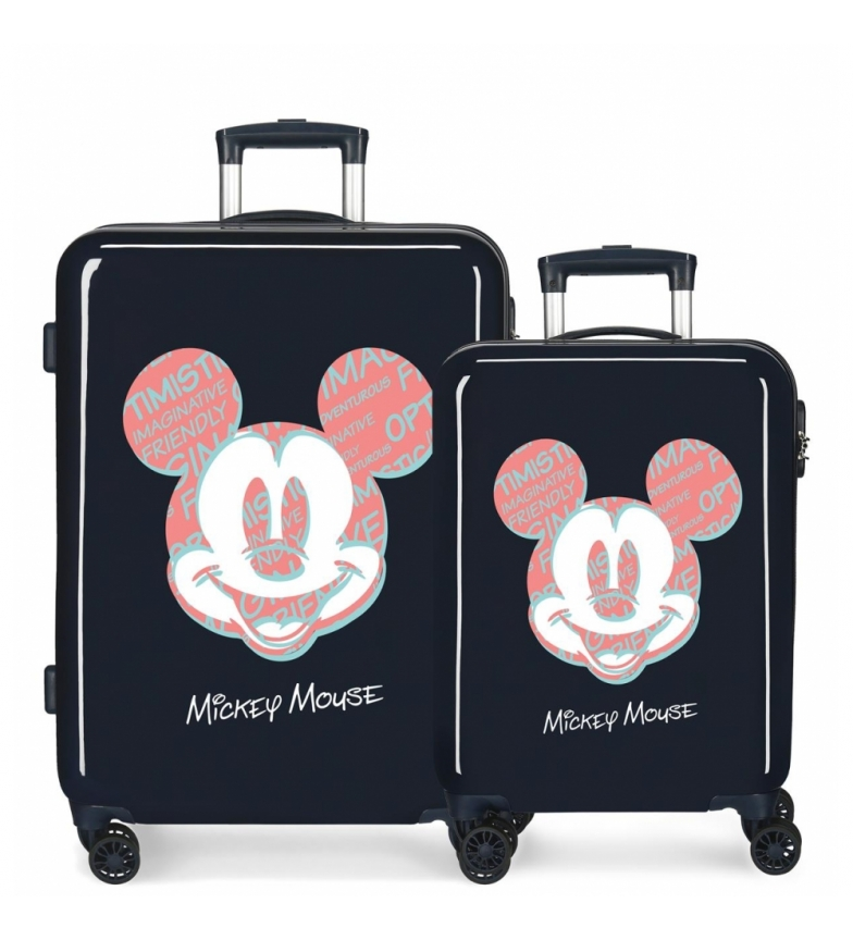 Comprar Disney Mickey Always Be Kind Rigid Sea Suitcase Set -38x55x20cm and 48x68x26cm