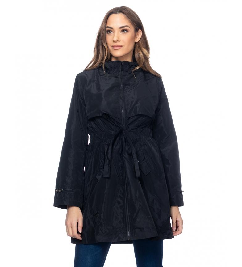 Comprar Tantra Casaco comprido com capuz e cintura elástica com alças pretas