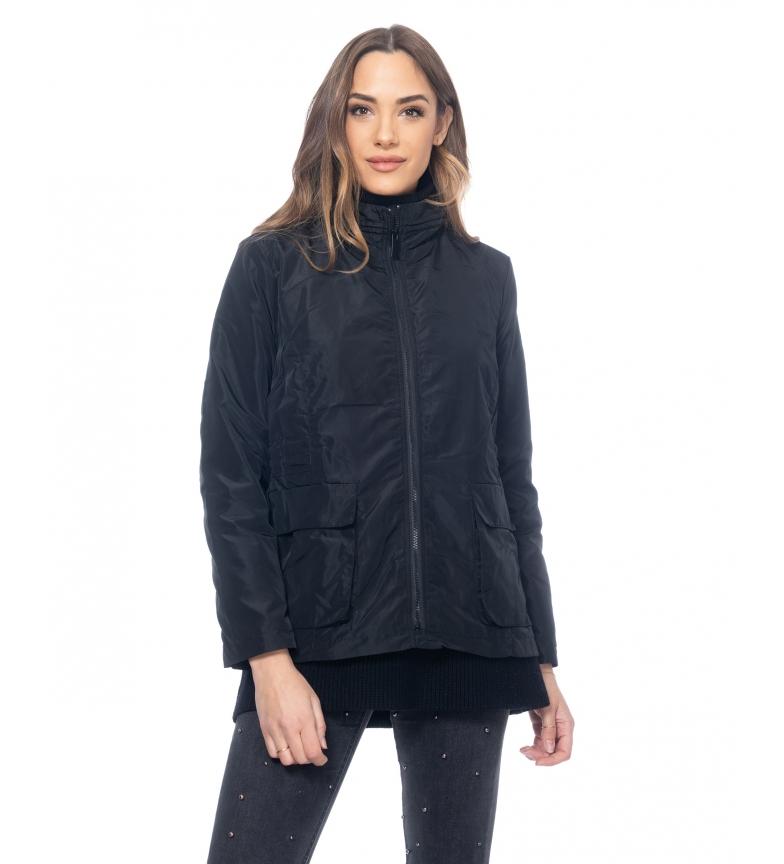 Comprar Tantra Jaqueta com bolsos e cintura elástica preta
