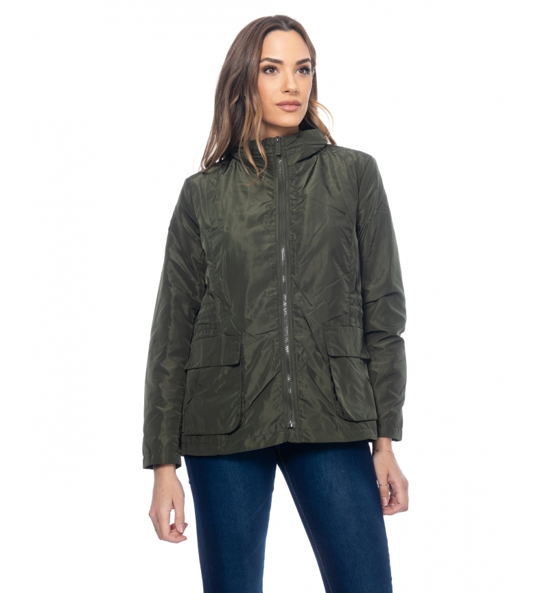 Comprar Tantra Jacket with Pockets and Elastic Waistband green