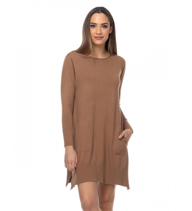 Comprar Tantra Robe en tricot brun avec poches latérales