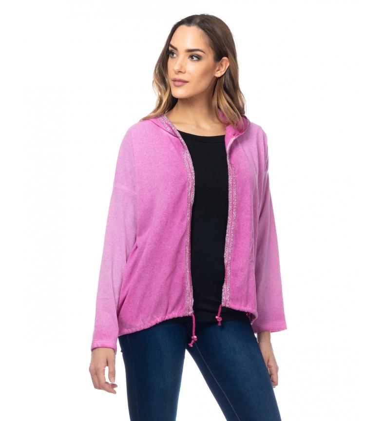 Comprar Tantra Casaco de malha com asas de lantejoulas na parte de trás rosa