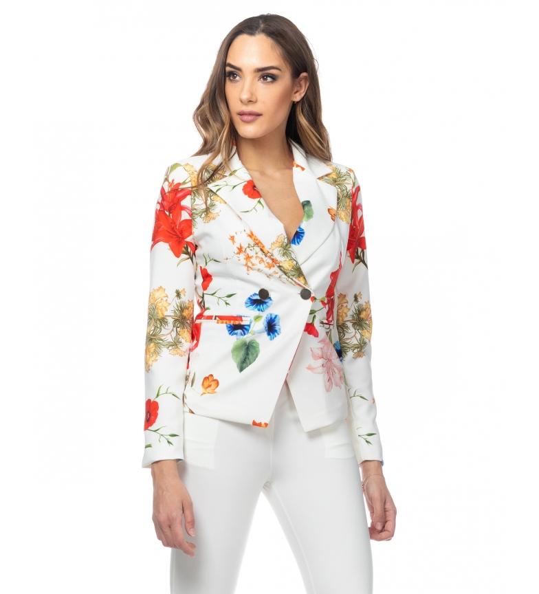 Comprar Tantra White Flower Printed Jacket