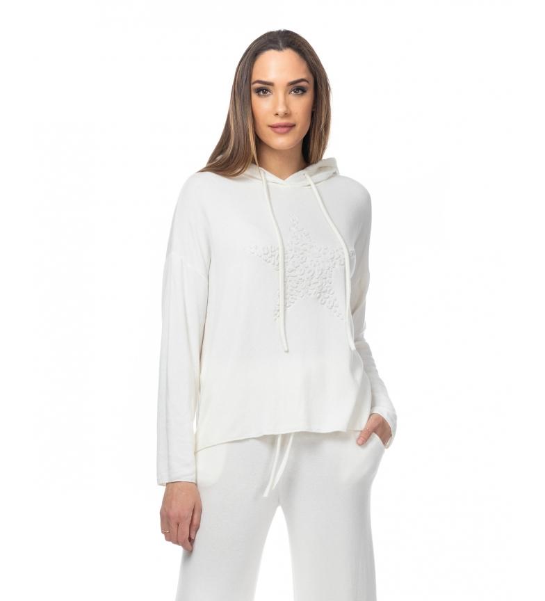 Comprar Tantra Pull à capuche tricoté avec détail d'étoile blanc