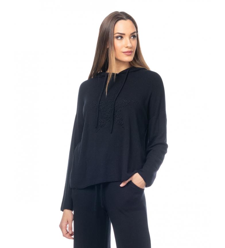 Comprar Tantra Pull tricoté avec capuchon et étoile noir