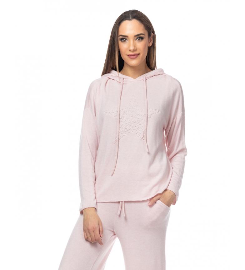 Comprar Tantra Pull rose à capuche tricoté avec détail d'étoile