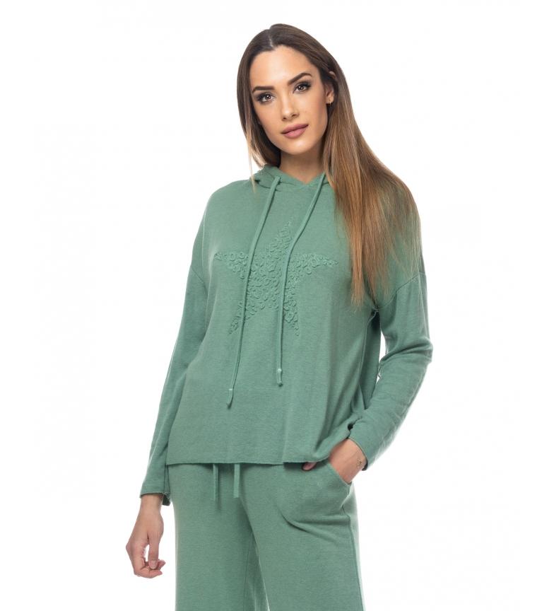 Comprar Tantra Pull tricoté avec capuche et étoile verte