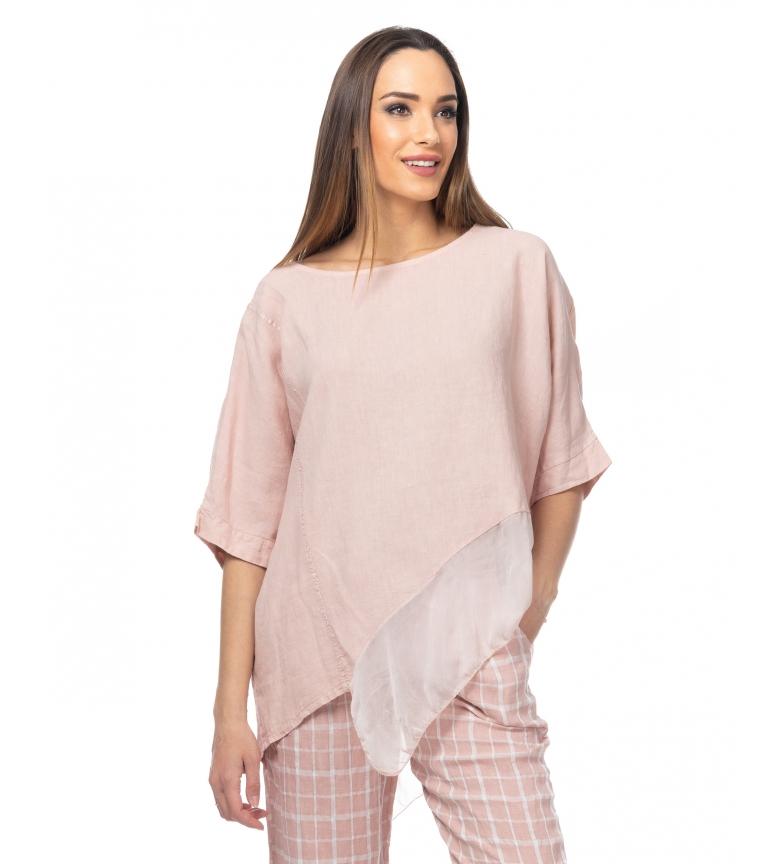 Comprar Tantra Tampo assimétrico com Ruffle Detail e Lurex Lurex rosa