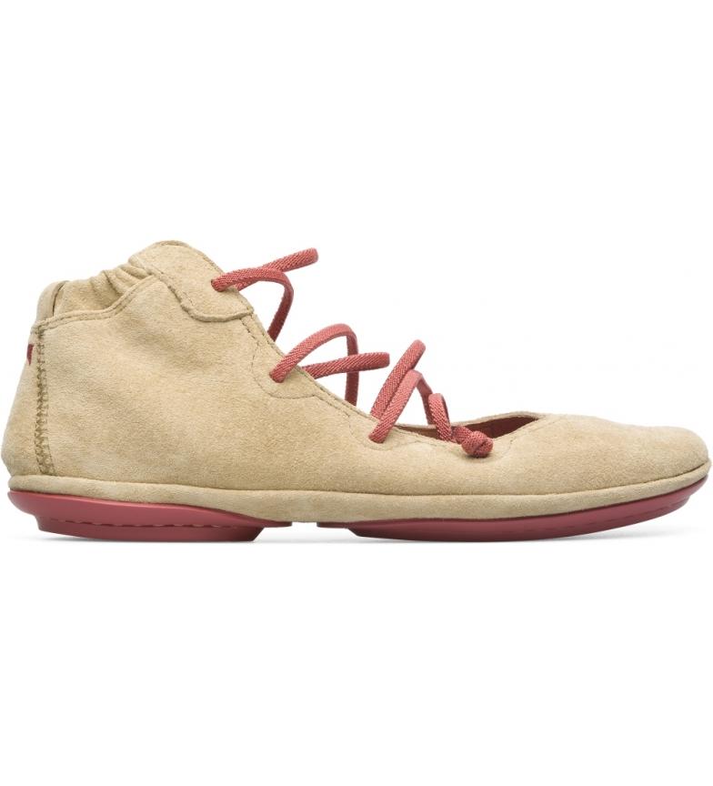 Comprar CAMPER Bailarinas Nina direita botas de couro bege