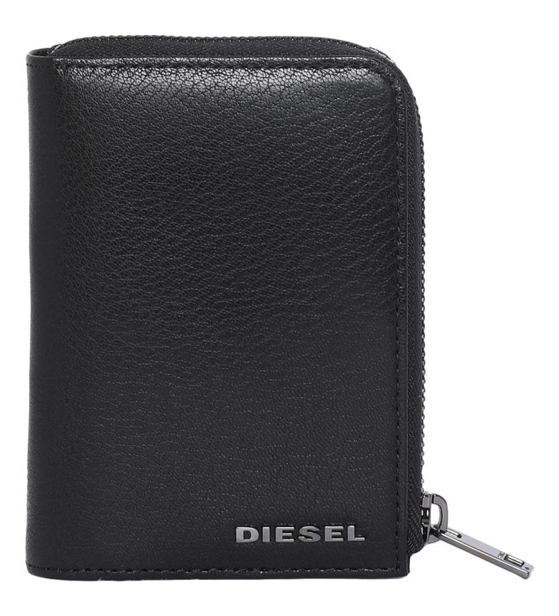 Comprar Diesel Portafoglio L-12 in pelle nera con cerniera -12,5x9x2,5cm-