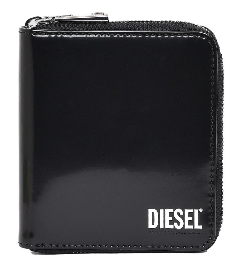 Comprar Diesel Cartera de piel  Pi-Zip negro -12.5x11x2.5cm-