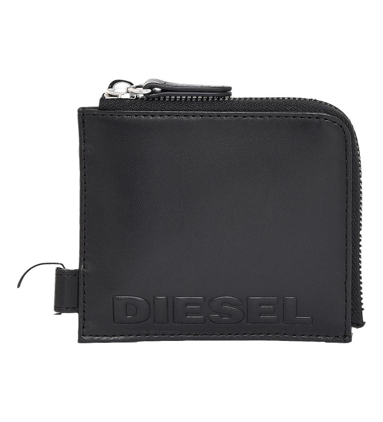 Comprar Diesel Portafoglio L-ZIP Chain in pelle nero -11x9,5x2cm-