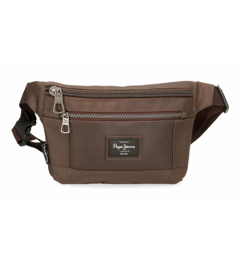 Pepe Jeans Small fanny pack Bomber -23x15x2,5c,- brown