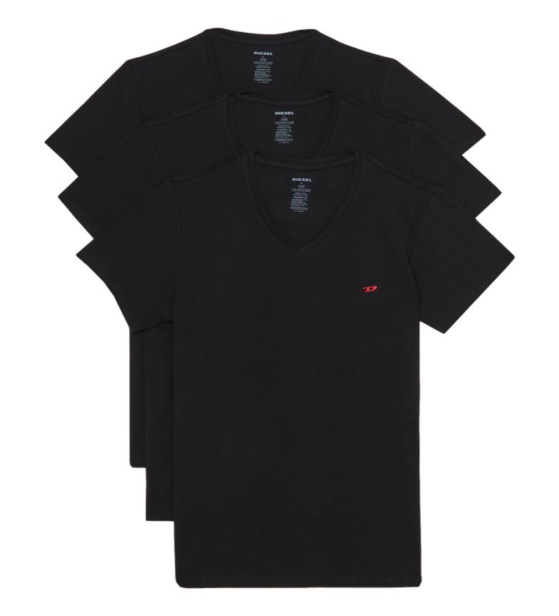 Comprar Diesel Pack de 3 camisetas Umtee-Michael negro