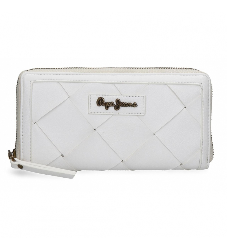 Comprar Pepe Jeans Leather wallet Cutouts -18x10x2cm- white