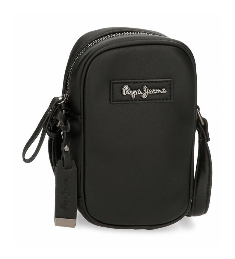 Pepe Jeans Aina mobile phone shoulder bag -10,5x17x5cm- black