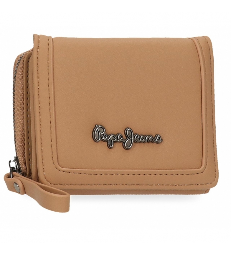 Comprar Pepe Jeans Aina wallet with coin purse -10x8x3cm-ochre