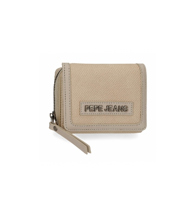 Comprar Pepe Jeans Natural wallet with coin purse -10x8x3cm- beige