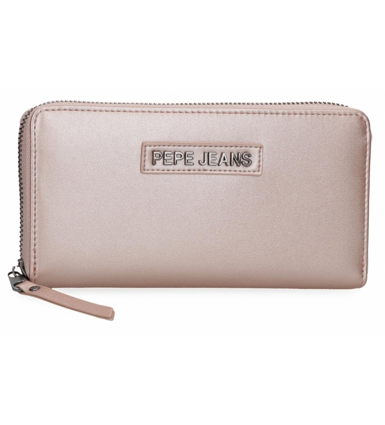 Pepe Jeans Cira wallet -18x10x2cm- metallic pink