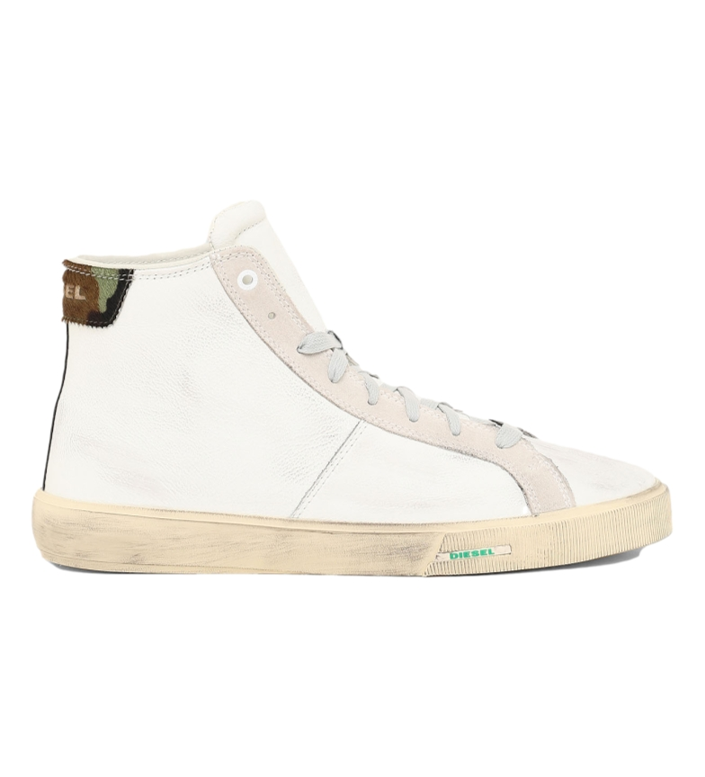 Comprar Diesel S-Mydori MC leather shoes white