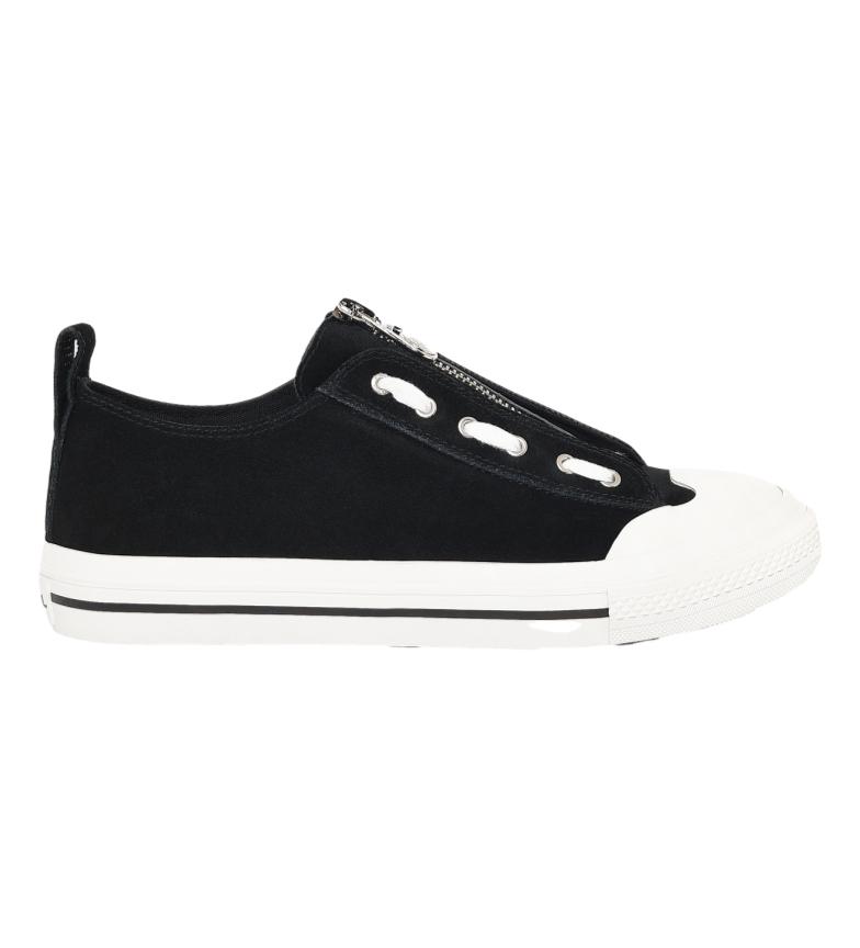 Comprar Diesel Zapatillas de piel S-Astico Lzip negro