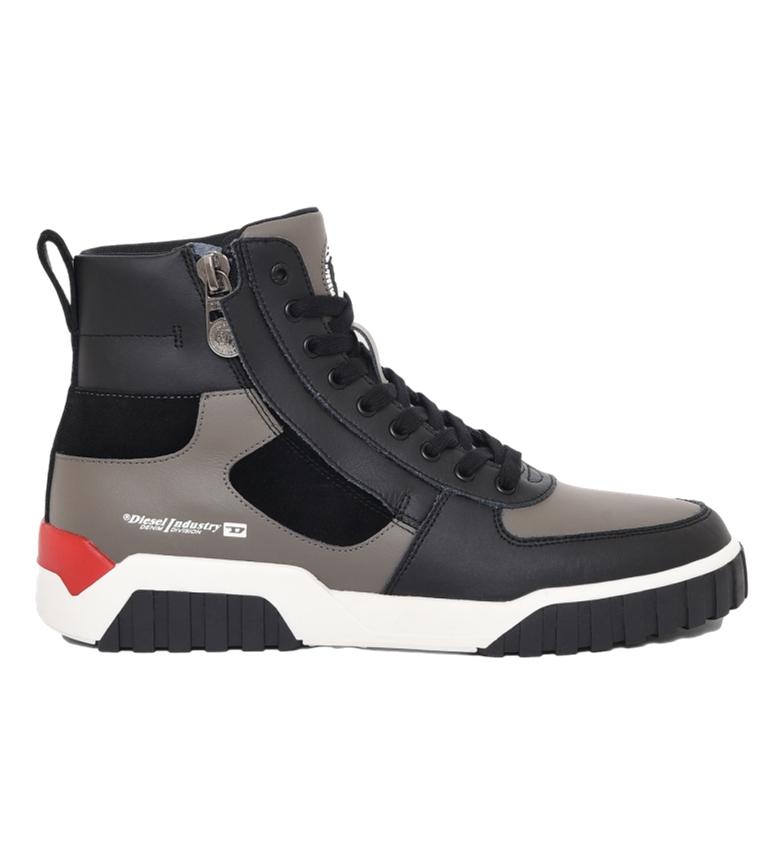 Comprar Diesel Zapatillas de piel  S-Rua Mid SK negro