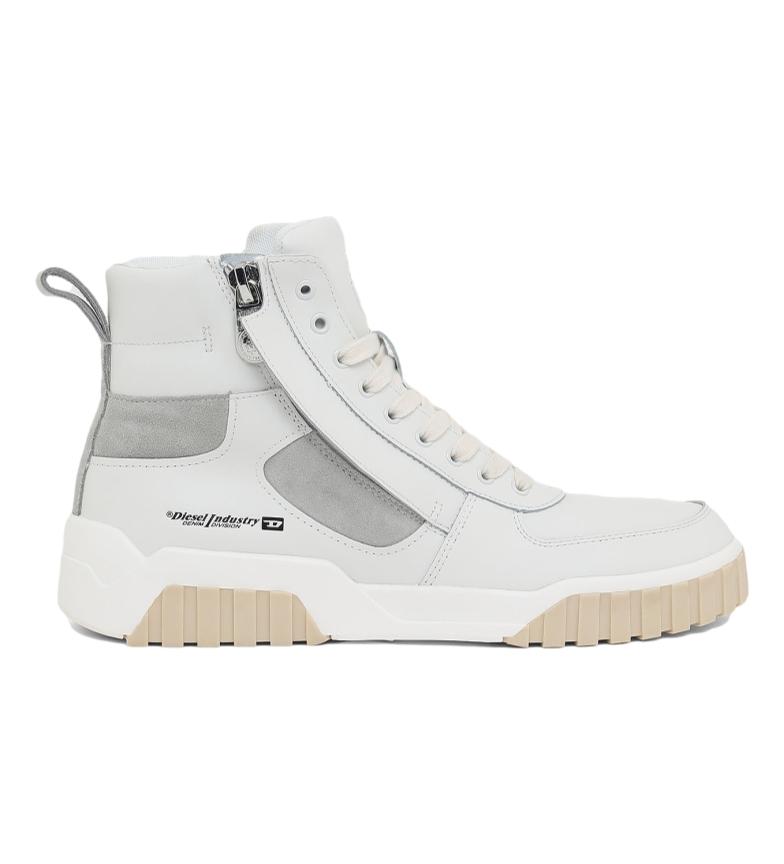 Comprar Diesel Sneaker S-Rua Mid SK in pelle bianca