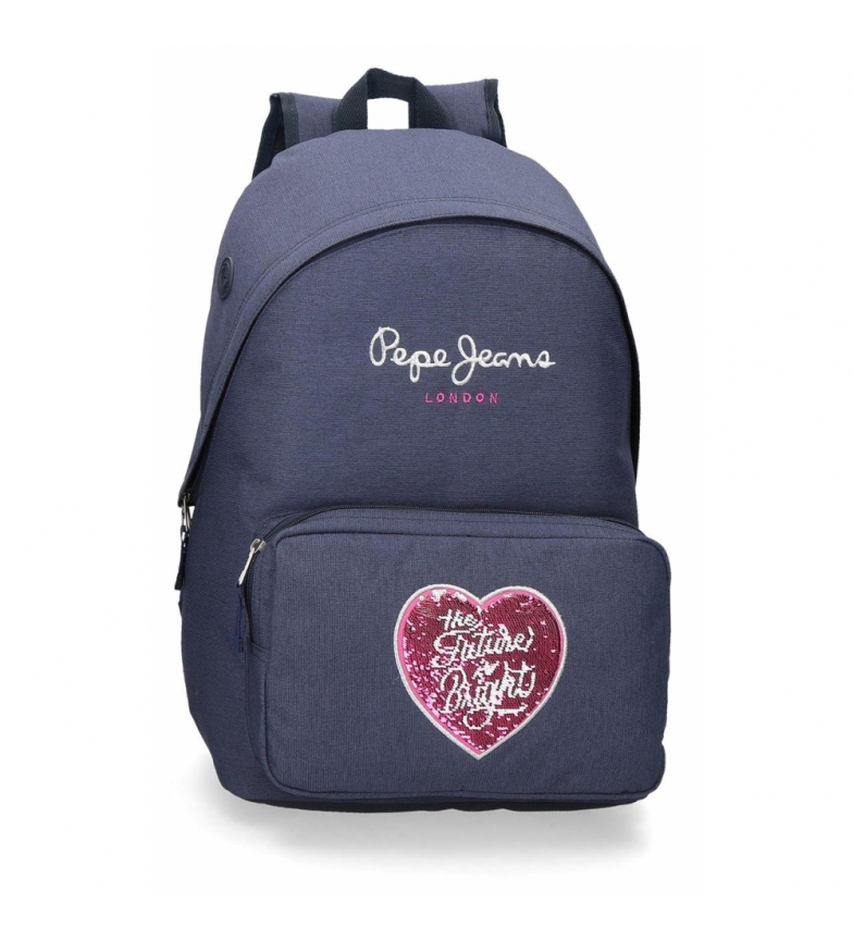 Comprar Pepe Jeans Bright Adaptable School Backpack blue -31x42x15cm