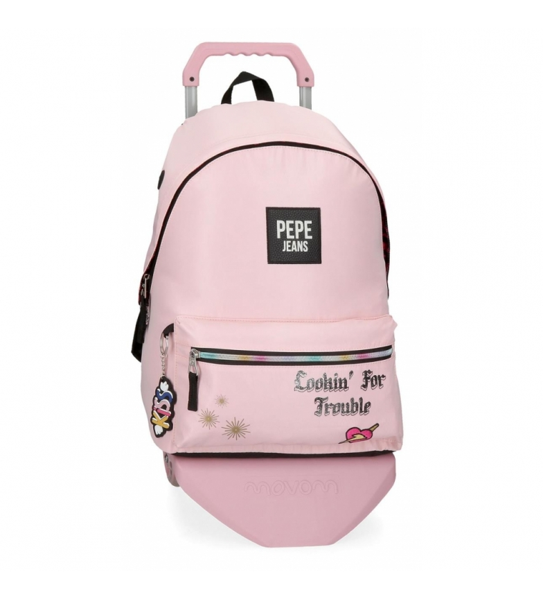 Comprar Pepe Jeans Forever Backpack with Trolley pink -31x42x15cm