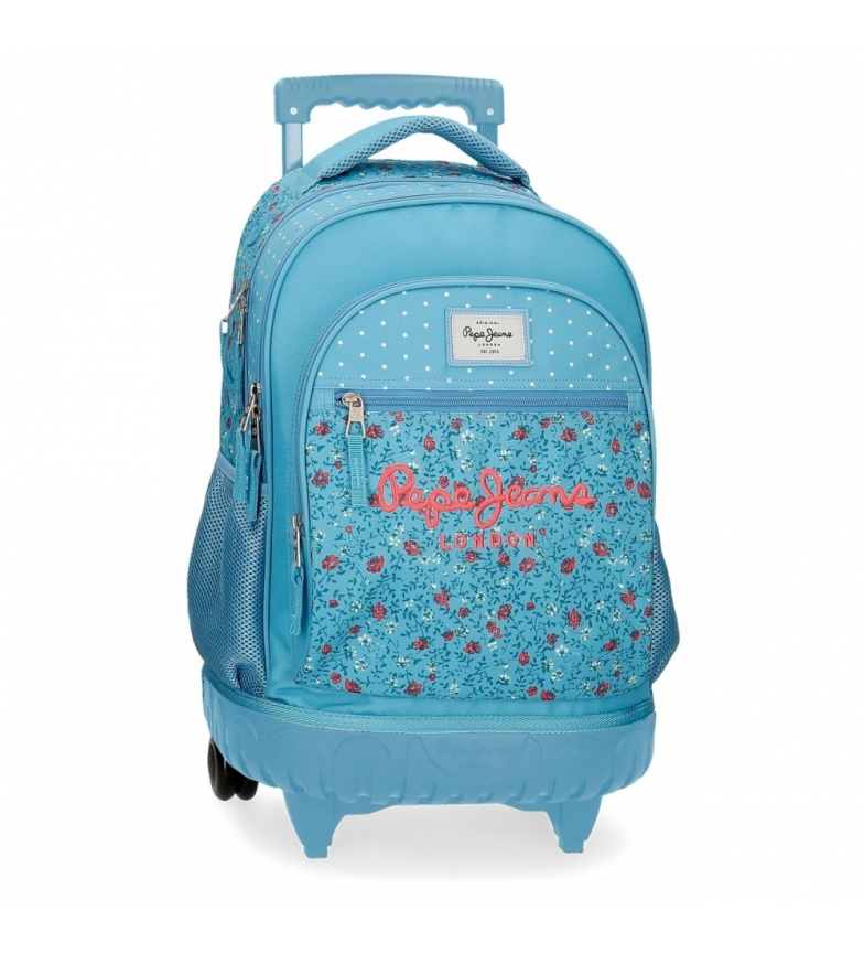 Comprar Pepe Jeans Backpack with wheels Brigtht 2R blue -33x44x21cm