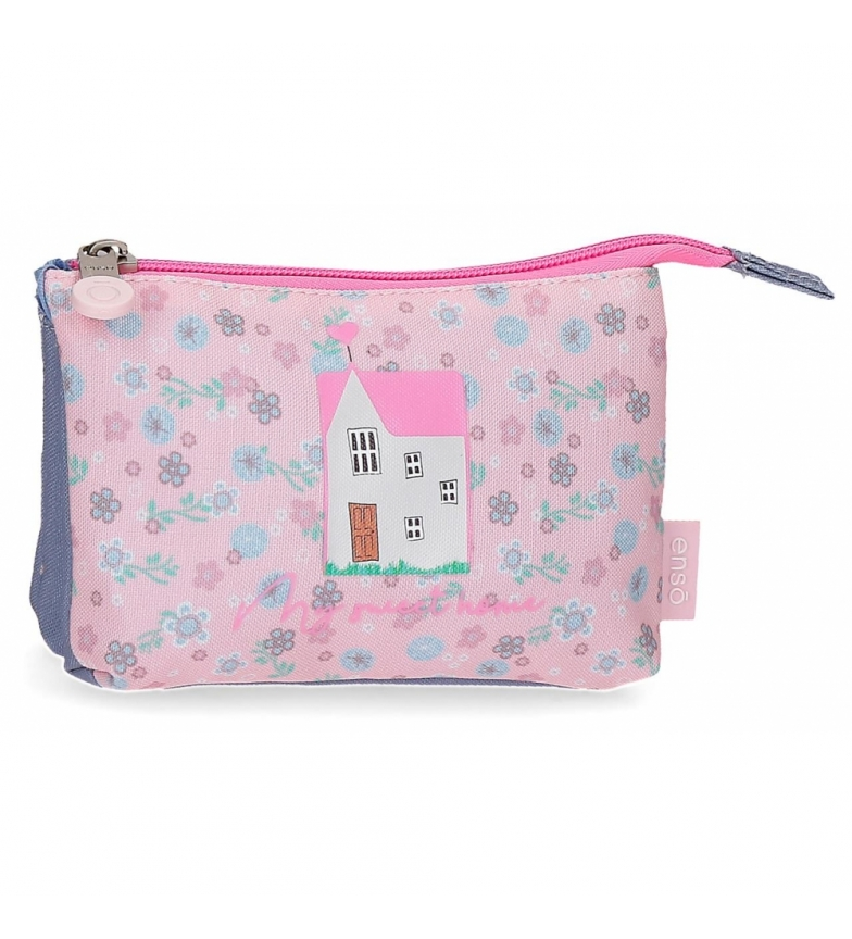 Enso Monedero billetero My Sweet Home -14x10x3,5cm-  rosa, azul