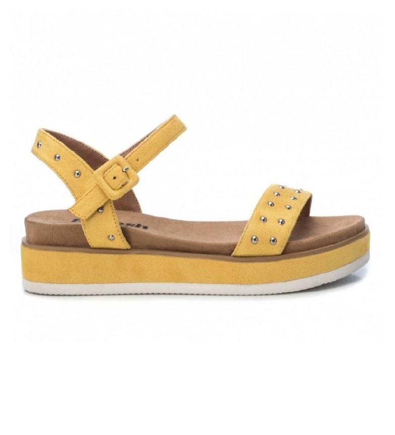 Refresh Sandales 069510 jaune - Hauteur de la plate-forme : 5cm