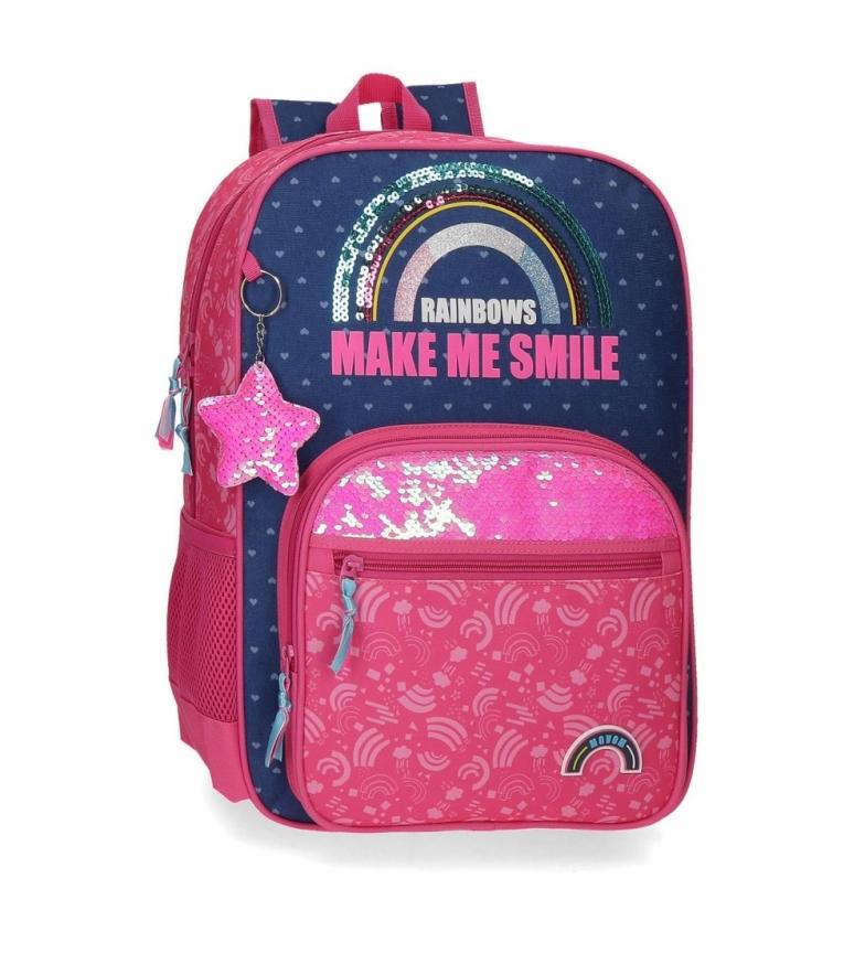 Comprar Movom Mochila  Glitter Rainbow rosa, marino -31x42x13cm-
