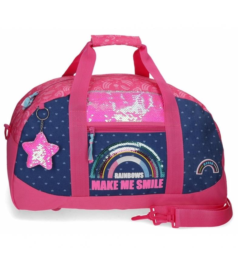 Movom Bolsa de viagem Glitter Rainbow rosa, marinha -50x28x26cm