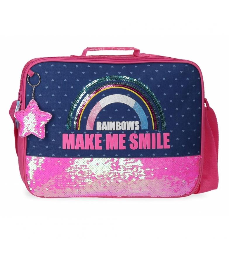 Comprar Movom Sac d'école paillettes arc-en-ciel rose, marine -38x26x6cm