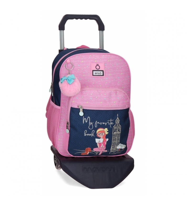 Comprar Enso My Favorite Book School Backpack with trolley -30x38x12 cm- pink