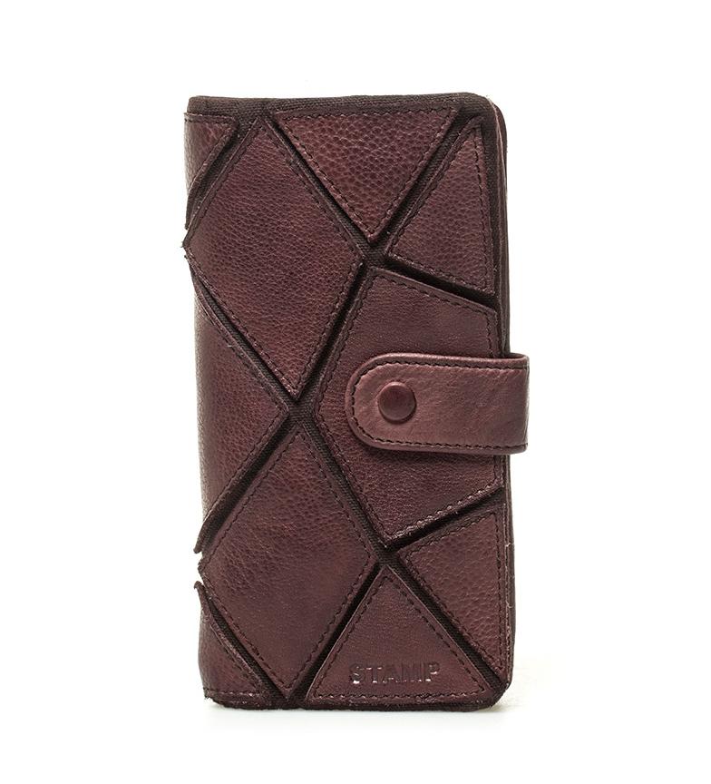 Comprar Stamp Sadira brown leather wallet -17x8x2cm-
