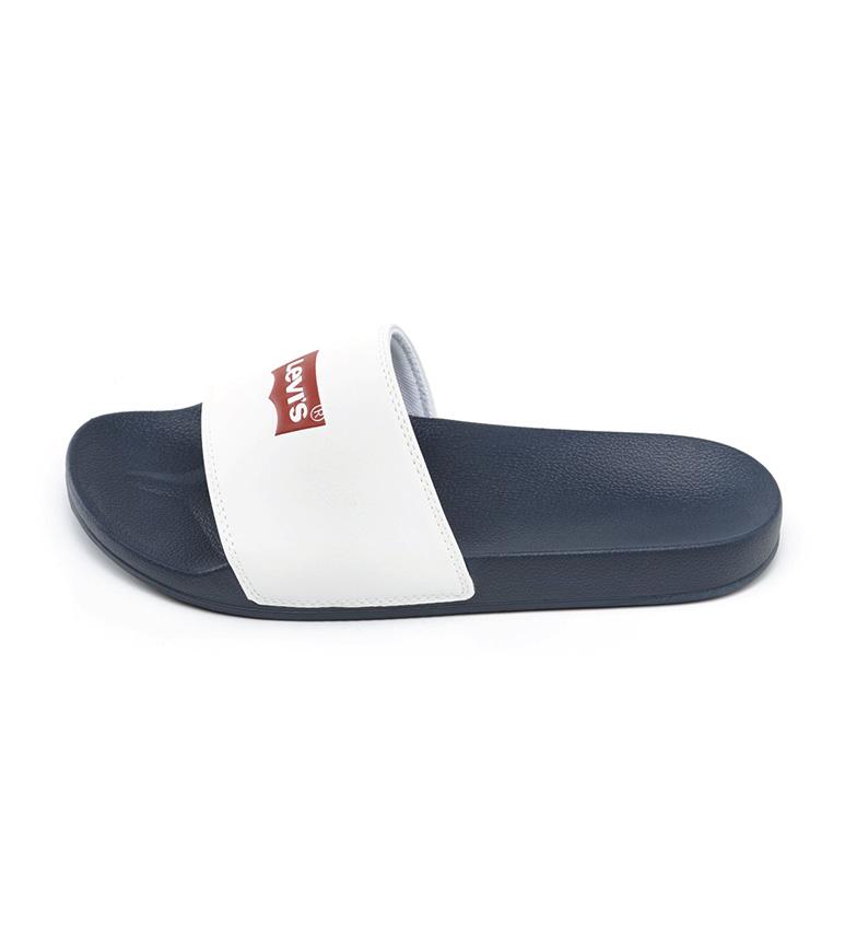 Levi's Junho Batwing flip flops branco, azul