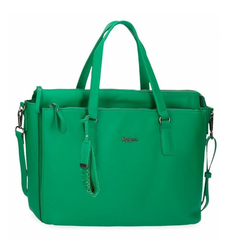 Comprar Pepe Jeans Bolso para ordenador Aina -42x27x11cm- verde