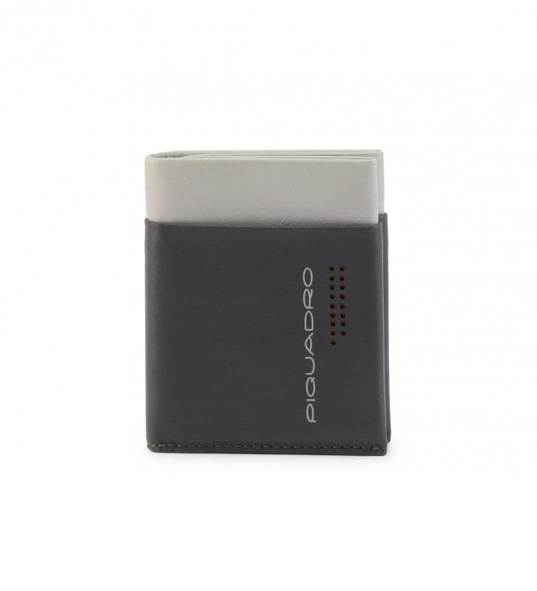 Piquadro Carteira de couro PU5188UB00R cinza -9,5x7x7x7x1,5cm
