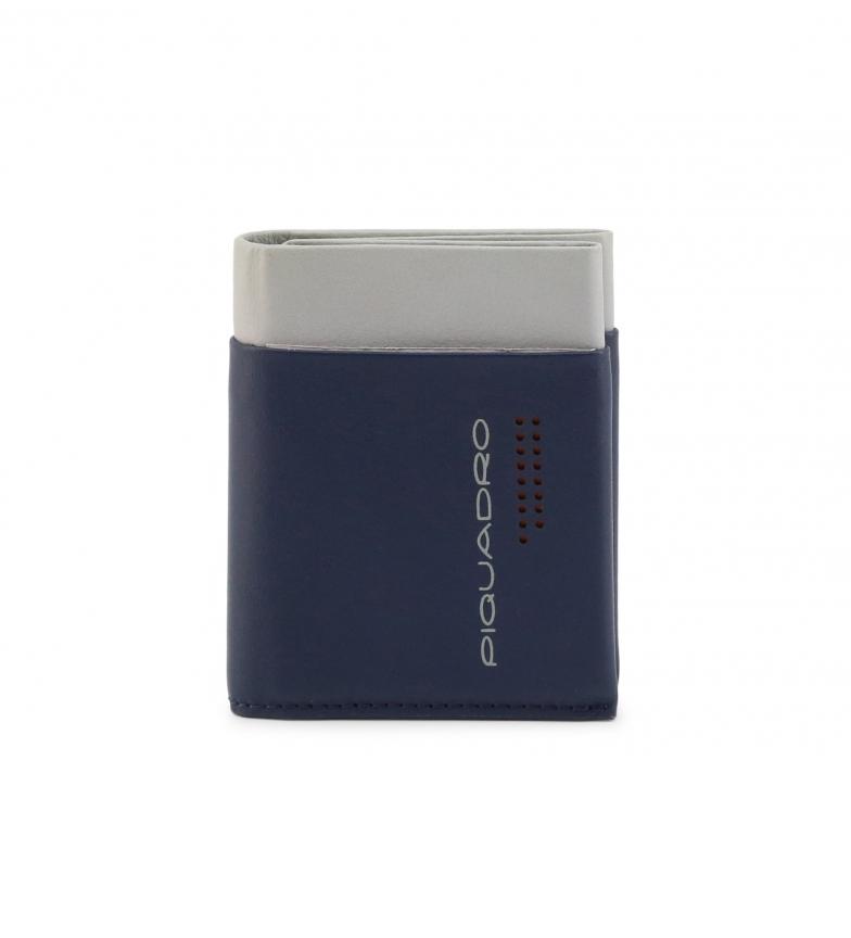 Comprar Piquadro Portefeuille en cuir PU5188UB00R bleu -9,5x7x7x1,5cm