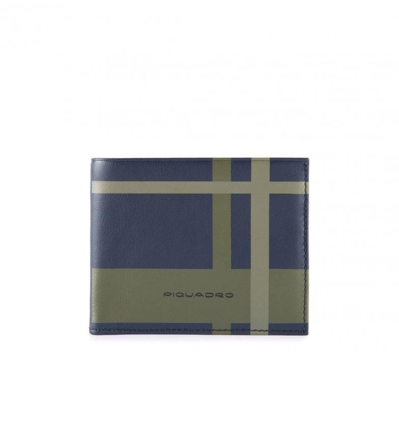 Comprar Piquadro Portafoglio in pelle PU3891TAGR blu -11x9x1cm-