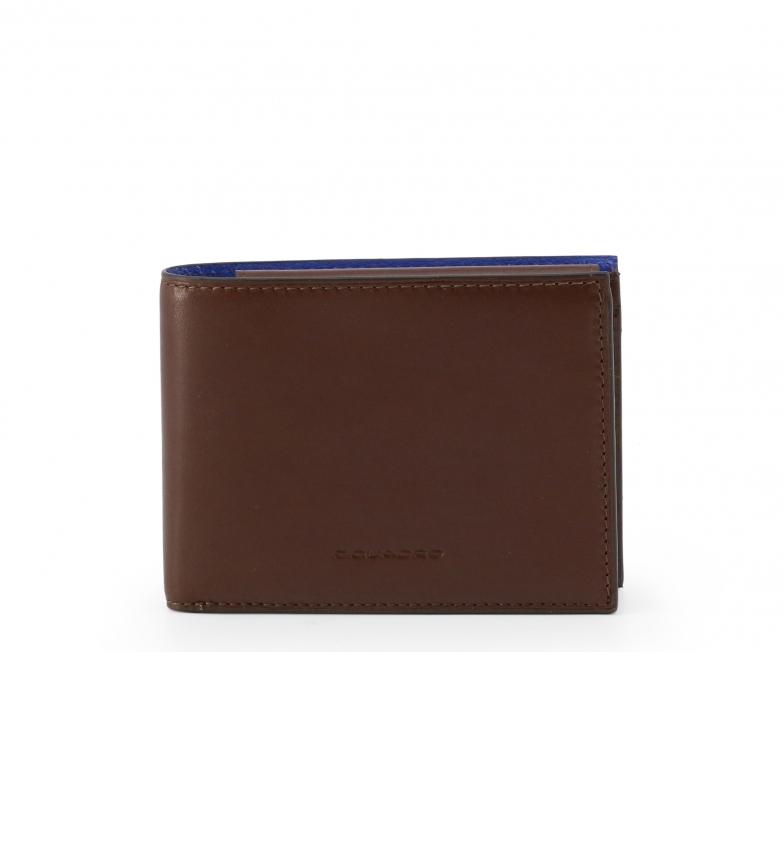 Piquadro Leather Wallet PU257BOR brown -12,5x9,5x2cm