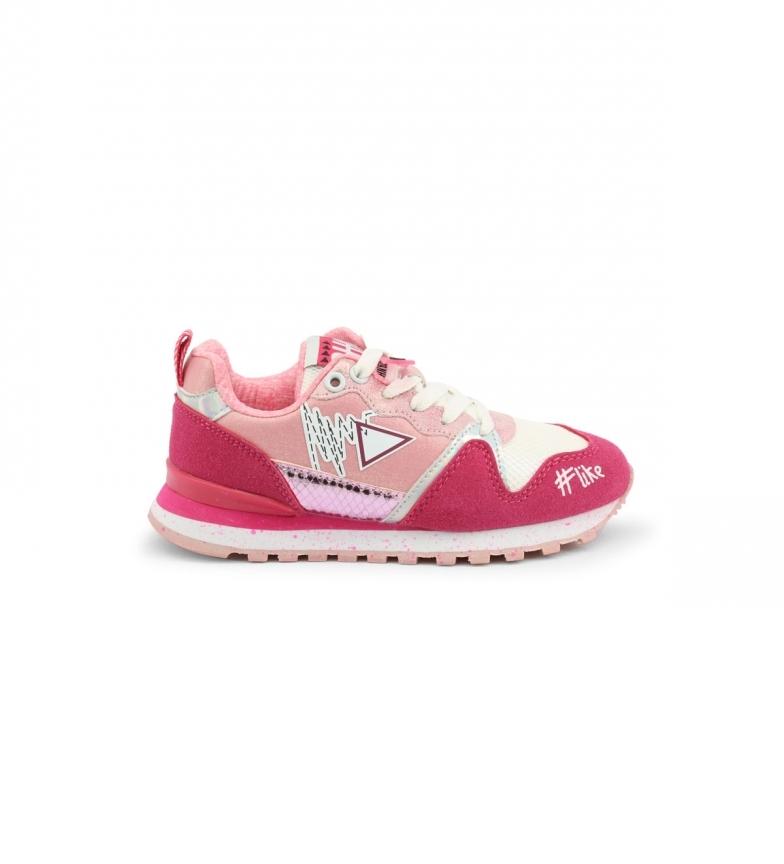 Comprar Shone Sneakers 617K-018 rosa -Plataforma+altura da borda: 4cm