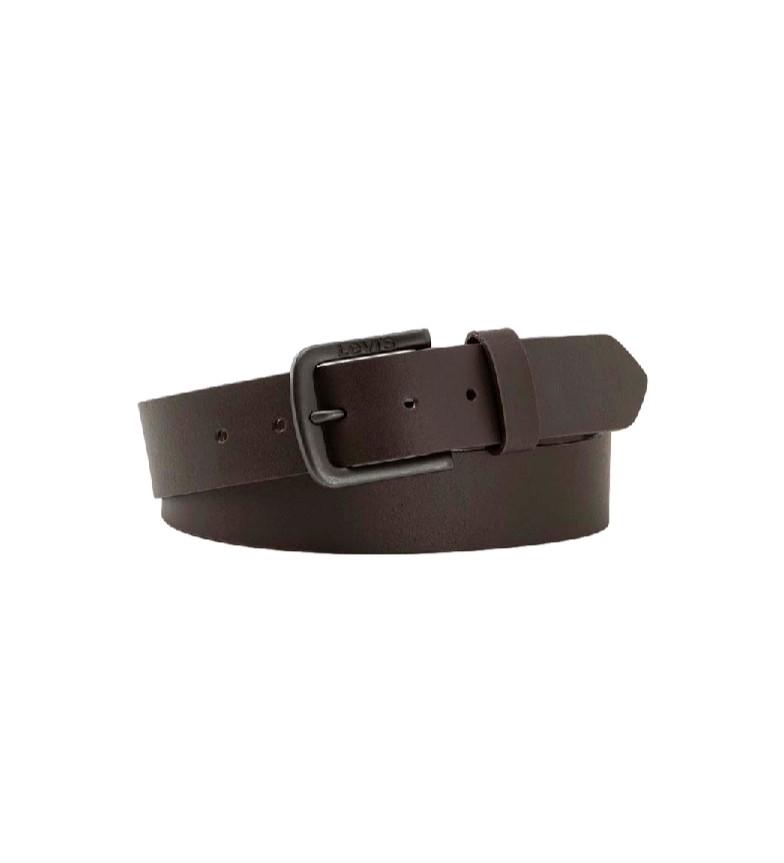 Comprar Levi's Cinturón de piel Seine Metal marrón
