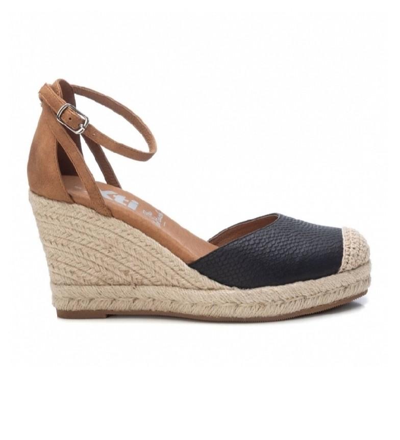 Comprar Xti Sandals 042310 black -height 9cm wedge