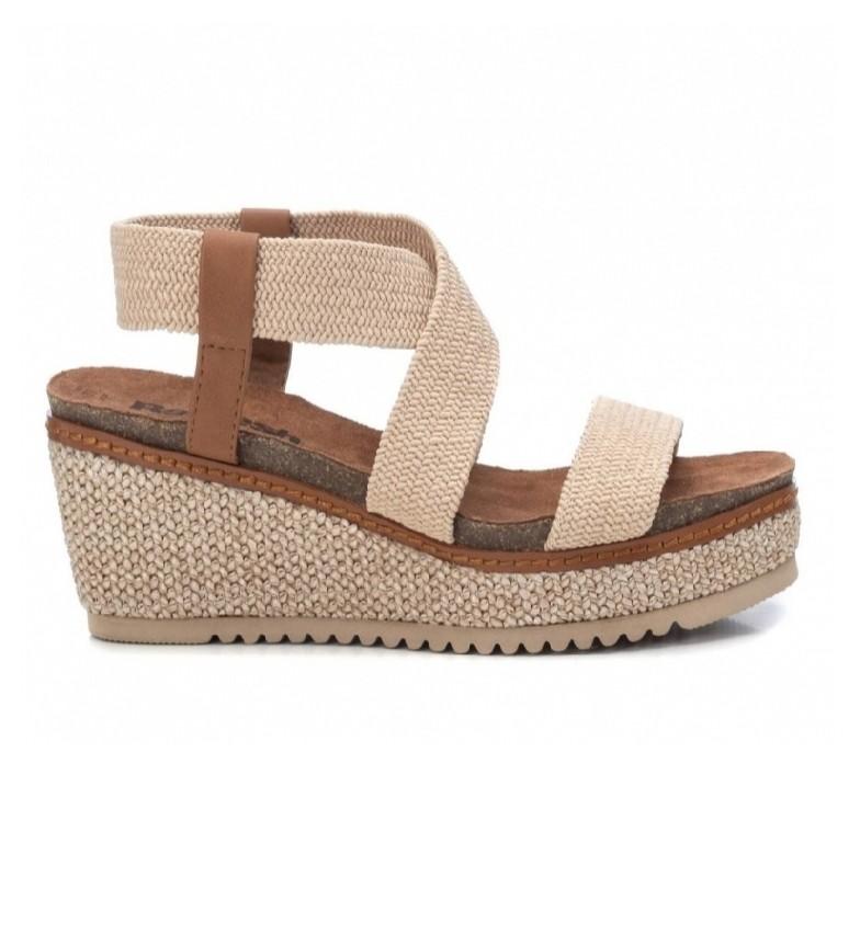 Comprar Refresh Sandálias 072923 bege -Cunha de altura: 7cm